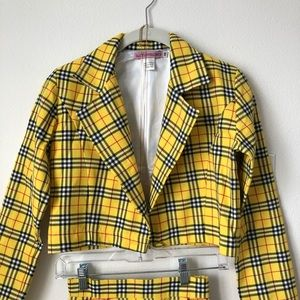 7a9f180ce Glitters For Dinner Other - Yellow plaid skirt and blazer set; Cher Clueless